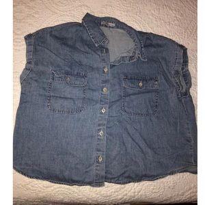 Blue jean shirt